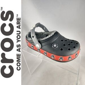 Kids Star Wars Crocs Darth Vader Size 2 slip on